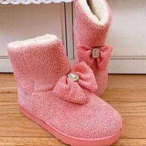Kawaii Pink Bow Winter Boots